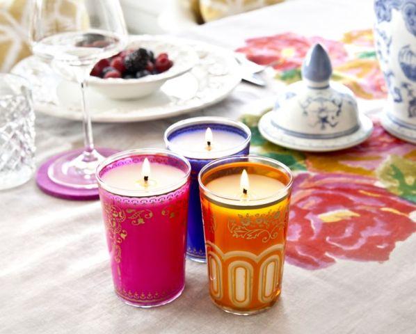 Centros de mesa con velas. Pura sencillez y elegancia 1