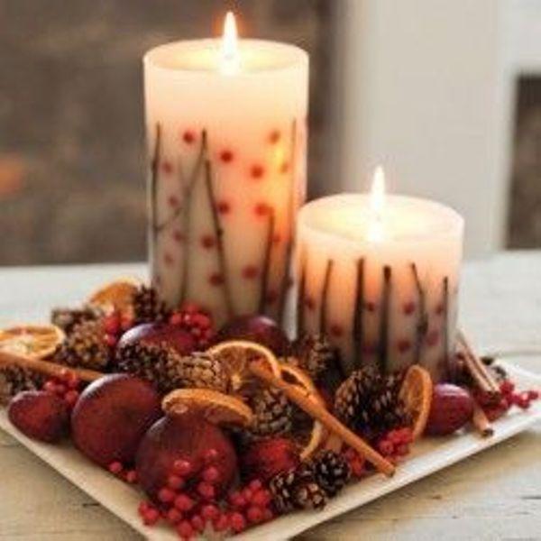 Centros de mesa con velas. Pura sencillez y elegancia 10
