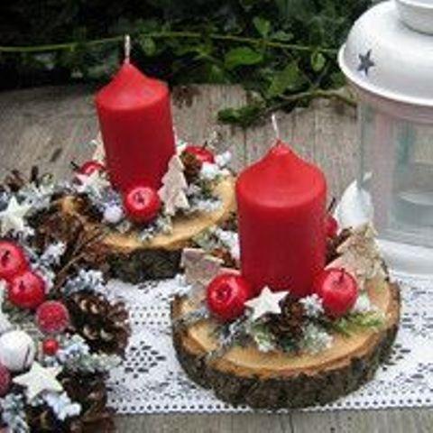 Centros de mesa con velas. Pura sencillez y elegancia 9