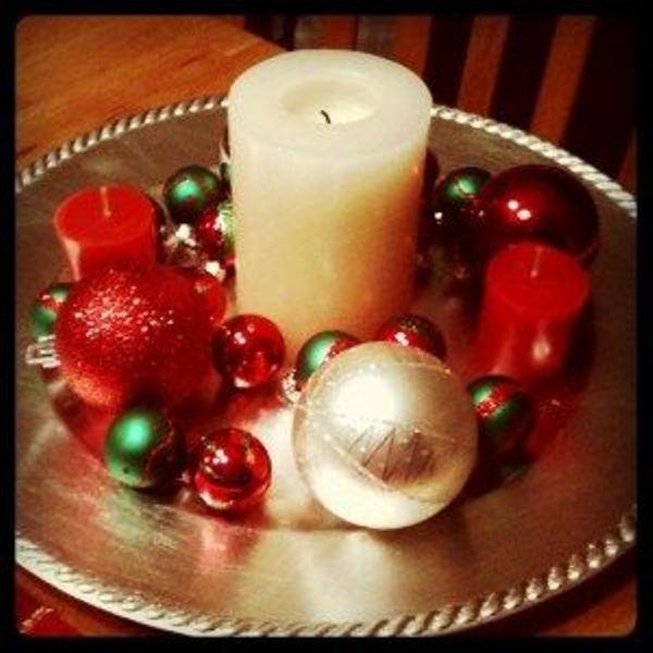 Centros de mesa con velas. Pura sencillez y elegancia 12