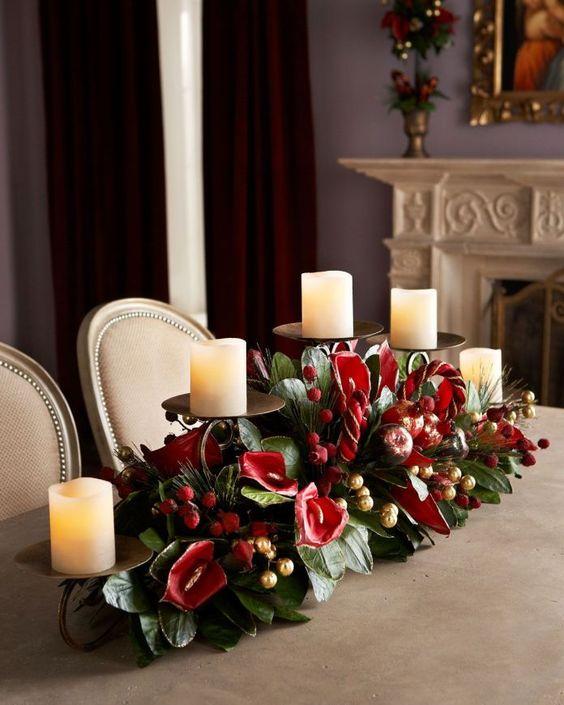 Centros de mesa con velas. Pura sencillez y elegancia 11