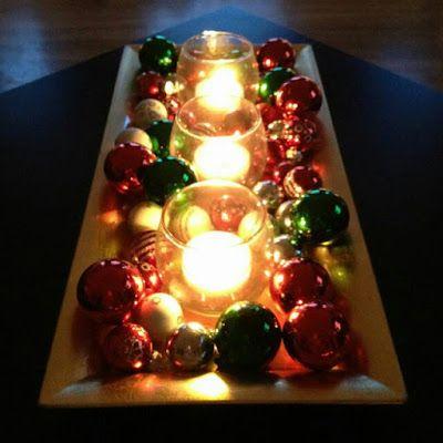 Centros de mesa con velas. Pura sencillez y elegancia 7