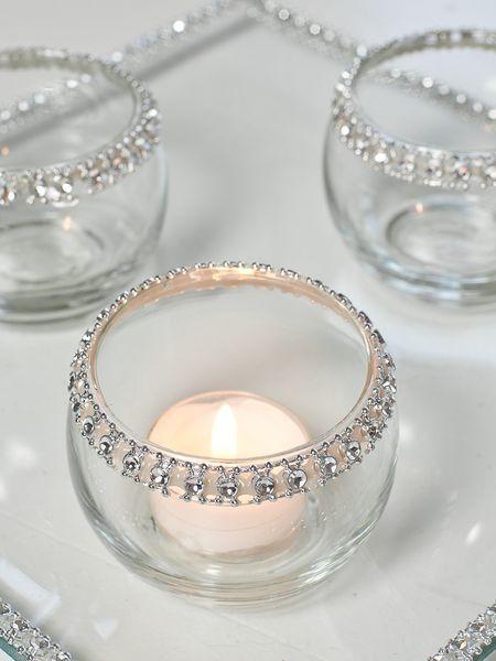 Centros de mesa con velas. Pura sencillez y elegancia 20