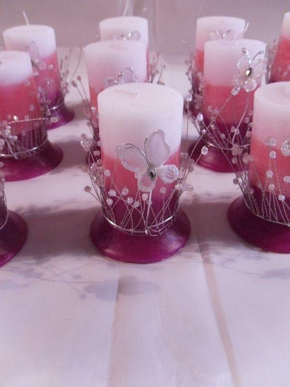 Centros de mesa con velas. Pura sencillez y elegancia 21