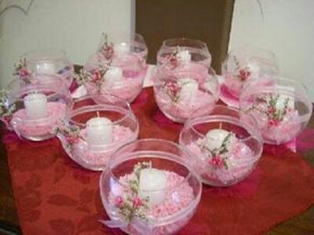 Centros de mesa con velas. Pura sencillez y elegancia 24
