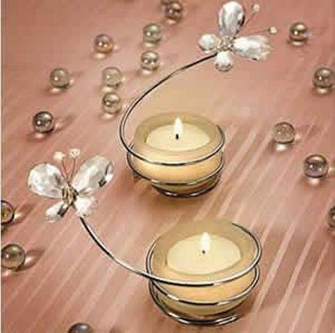 Centros de mesa con velas. Pura sencillez y elegancia 25